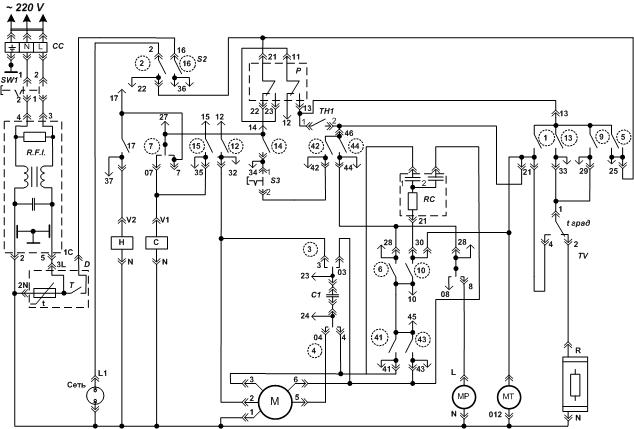Схема стиральной машины вятка автомат